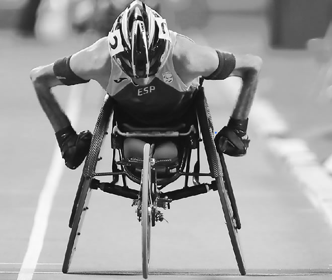 Paralympic athlete.